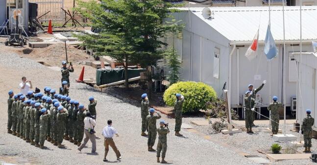 日本自卫队南苏丹维和任务结束 部队全部回国