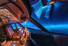 飞行员驾驶舱拍夜空美景