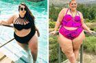 胖美女穿比基尼秀身材