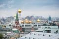 童话里世界 鸟瞰俄罗斯莫斯科