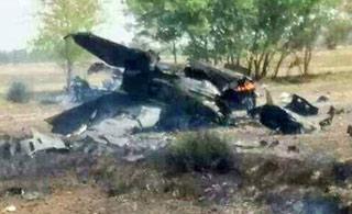 巴基斯坦一架歼7战斗机坠毁