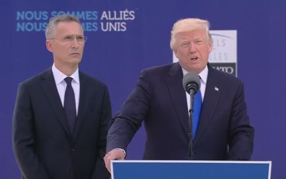 黑山/北约领导人周四在比利时布鲁塞尔为新总部大楼揭幕,特朗普在...