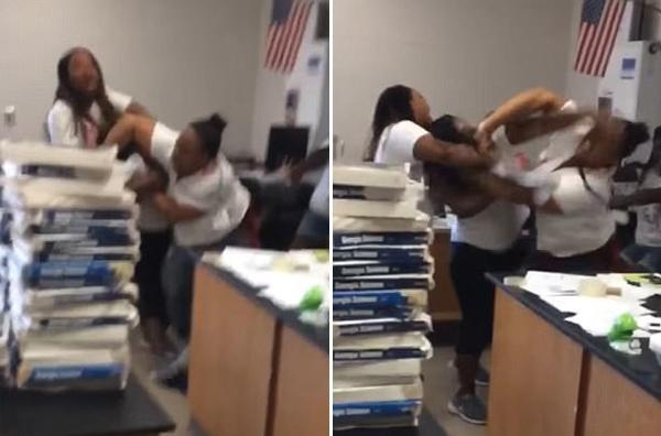 美国一中学教师与助教课堂上打架 两人均遭解雇
