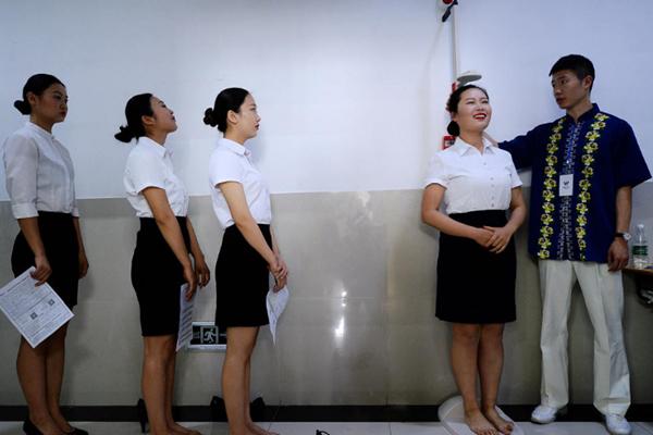 济南空姐招聘 光脚量身高低于1米65免谈