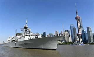 加拿大军舰第三次访问上海