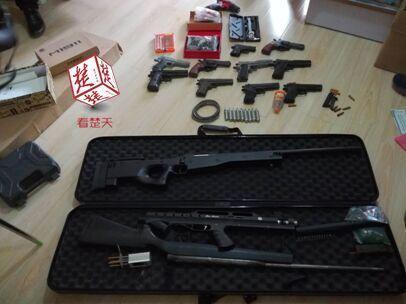 网购零件组装16支仿真气枪 20岁小伙网络贩枪被拘
