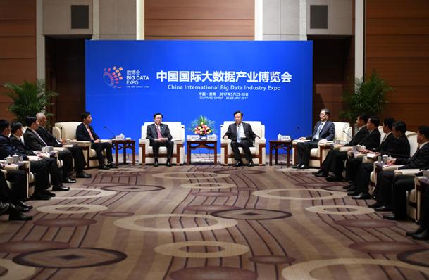 贵州省委领导与互联网领袖共议大数据发展战略