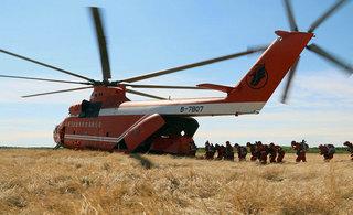 中国武警乘世界最大直升机巡逻