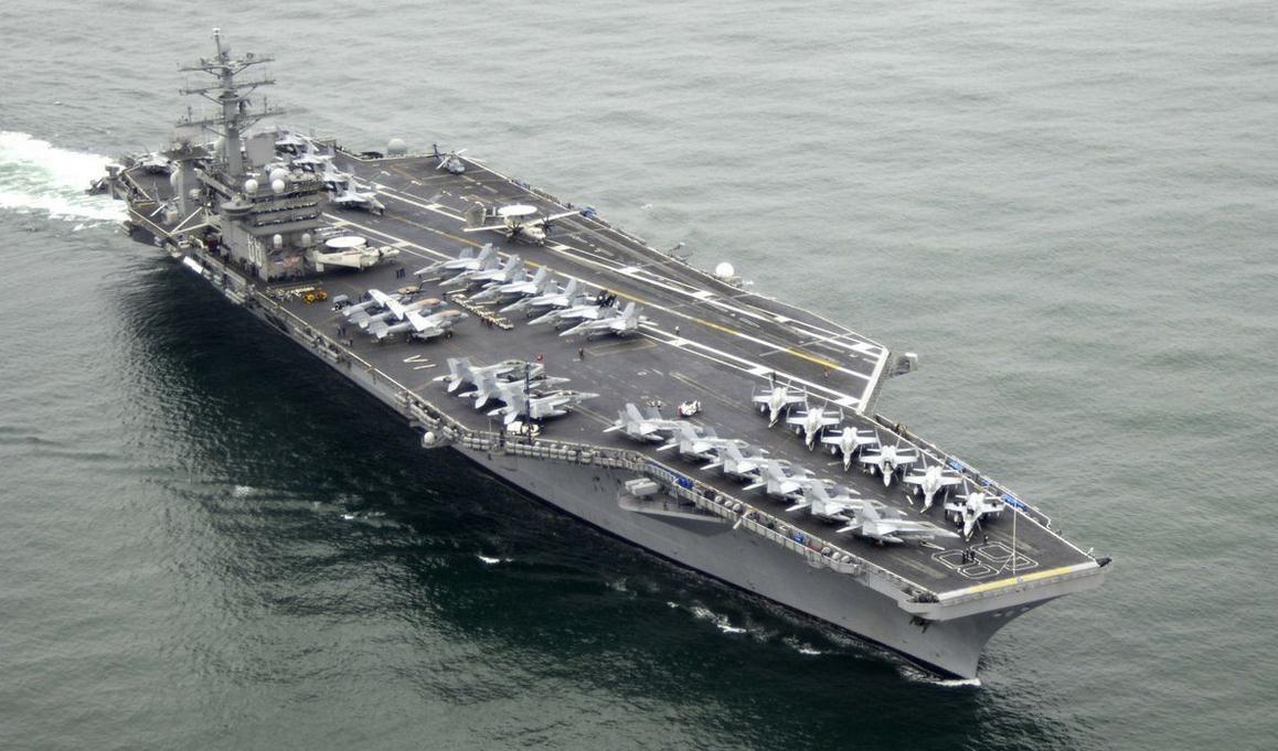 美将派第3艘航母赴西太 日媒:3航母会师罕见