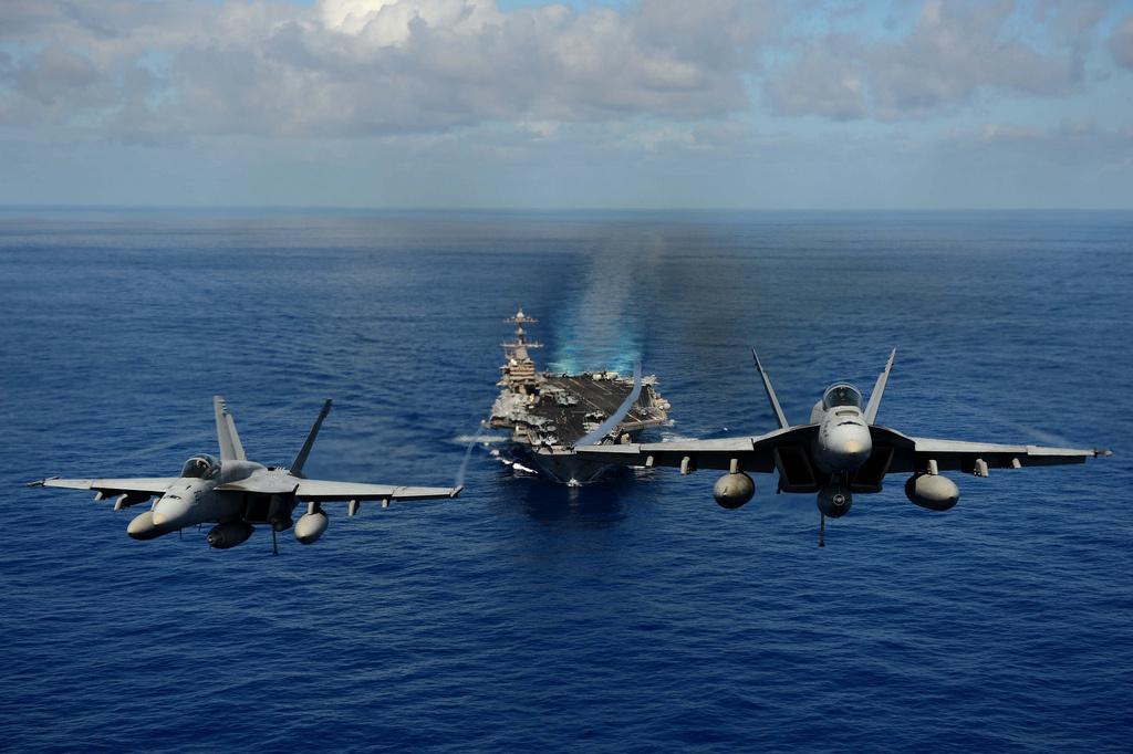 日媒:美两支航母打击群将在日本海联合军演
