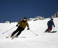 国际滑雪登山挑战赛结束 上山全靠自己爬