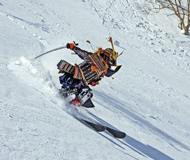 外国滑手大胆创意 武士刀滑雪霸气十足