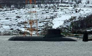 俄最强核潜艇抵达巴伦支海军港