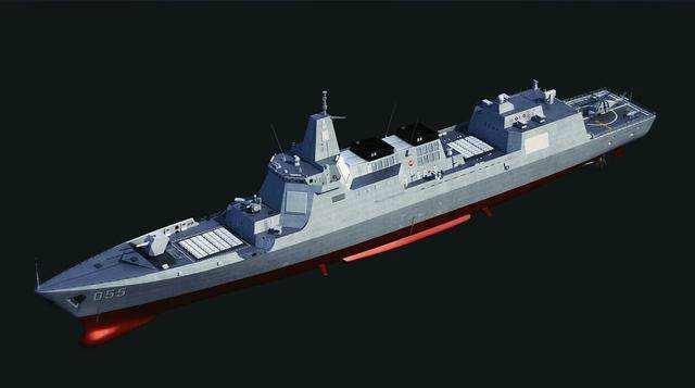 美媒:中国055大驱将护卫国产航母 威力亚洲最强
