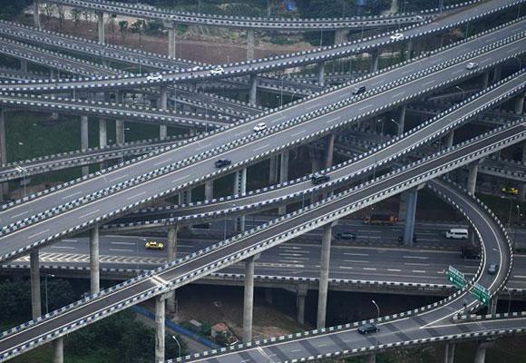 """重庆主城""""最复杂""""立交桥完工 共五层15条匝道"""
