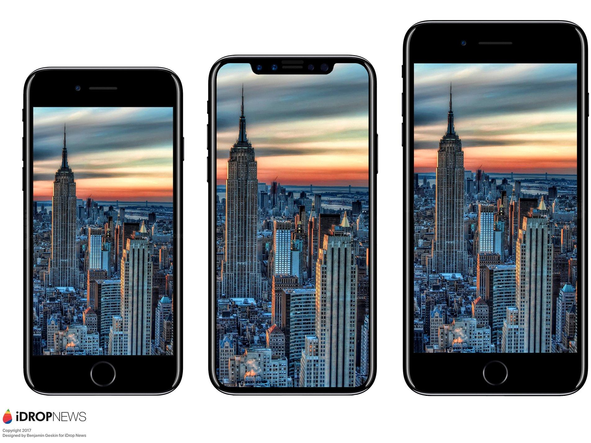 iPhone又长个了?传闻称iPhone 8比iPhone 7大
