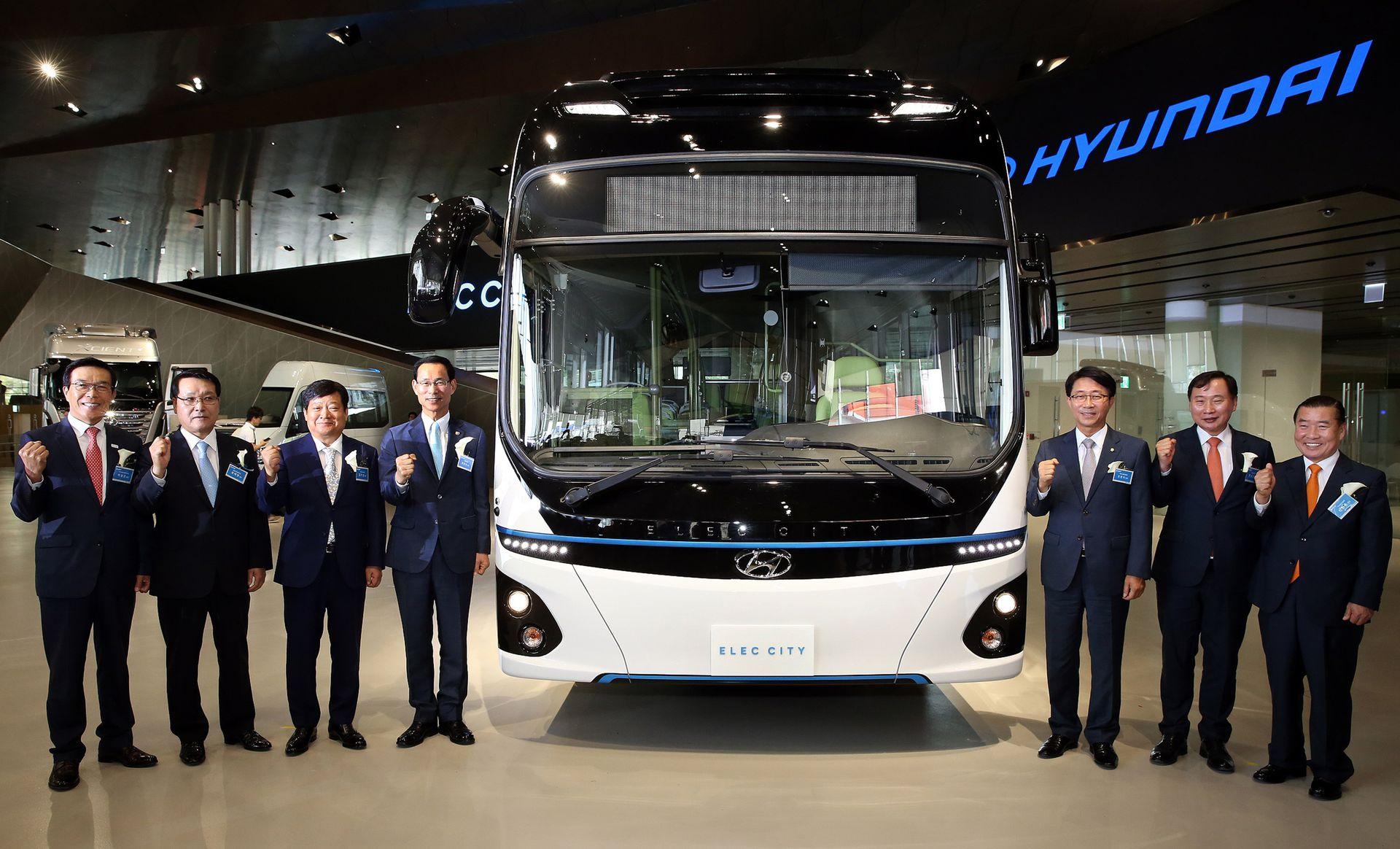 现代发布Elec City 纯电动巴士 续航里程290公里