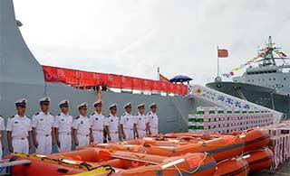 海军编队访斯里兰卡捐赠物资药品