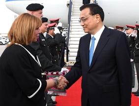 李克强抵达布鲁塞尔出席第十九次中欧领导人会晤
