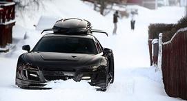开车去滑雪雪板怎么放