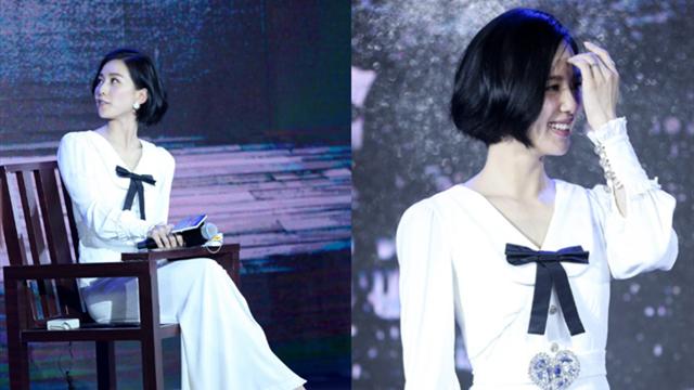 刘诗诗短发气质出众 一袭白裙显清纯