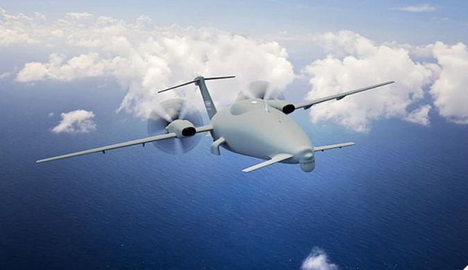 采用独特空气动力学设计的双螺旋桨飞机