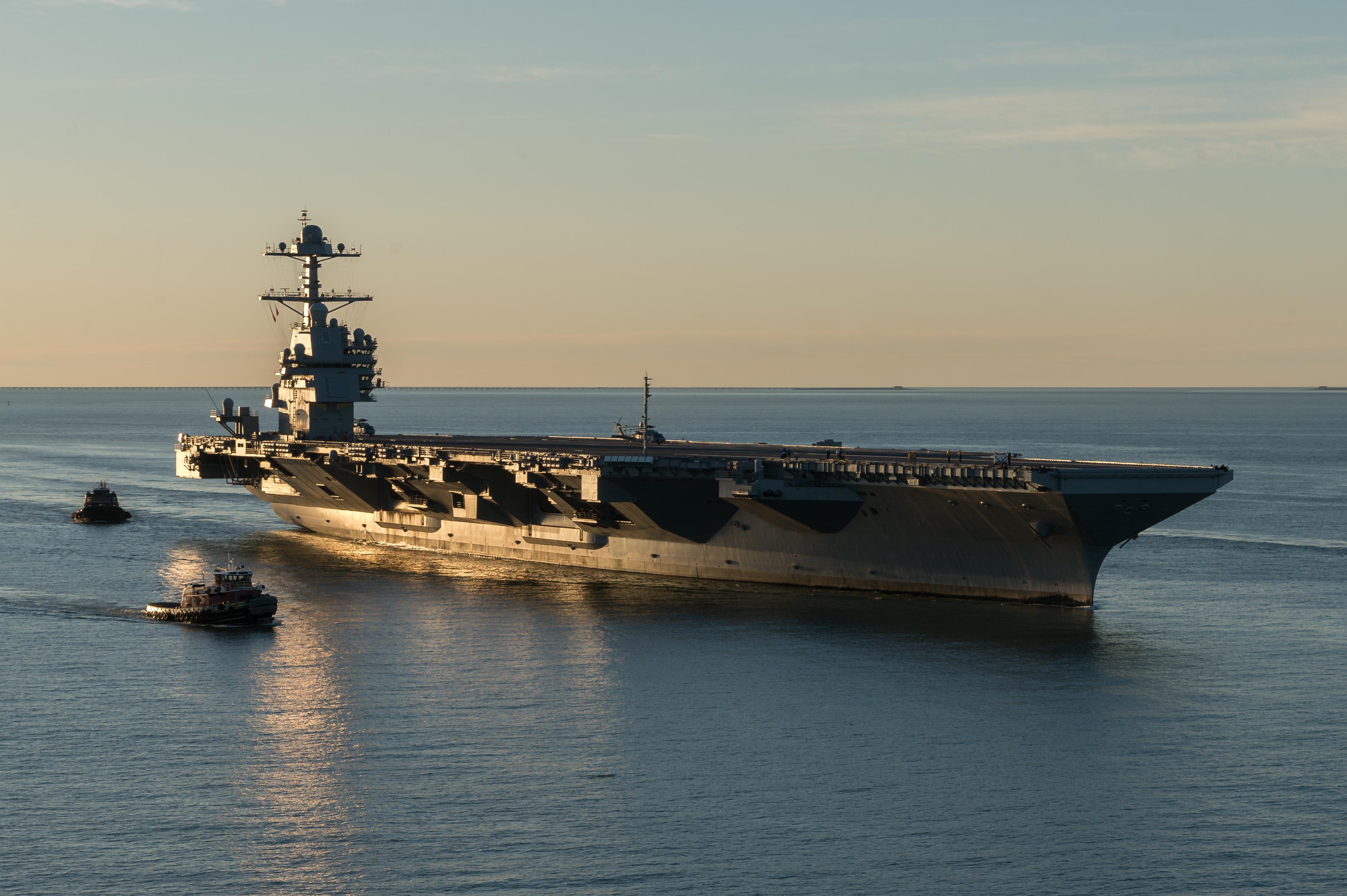 美福特号航母交付海军 俄专家建议俄中联手对抗