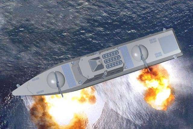 """美媒紧盯""""中国版武库舰"""":可一次发射数百导弹"""