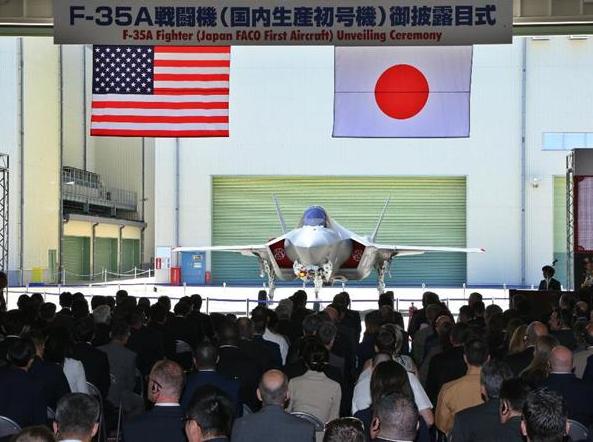 日本首度公开国内总装F35A战机 预计年内交付2架