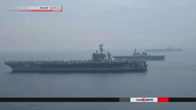 美军双航母演习结束 卡尔文森号即将驶向美国