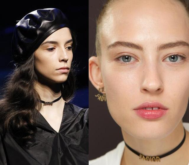 左:Dior2017秋冬秀场右:Dior2017春夏秀场-冉莹颖的狗链儿不算什