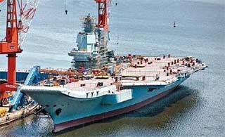 国产航母建造进展:或正内部施工