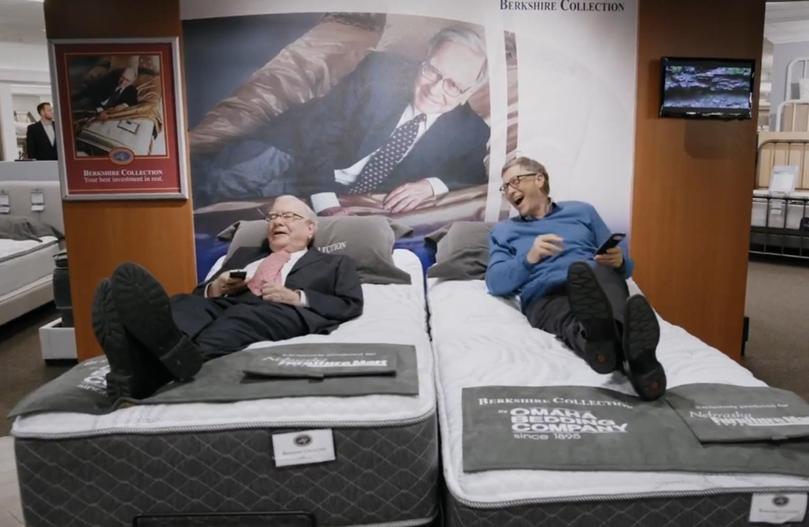 科技雷不撕:厉害!盖茨带着巴菲特测评床垫