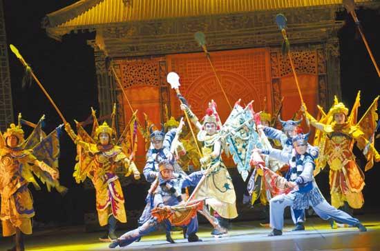 中国民族舞剧《粉墨春秋》在法兰克福演出成功