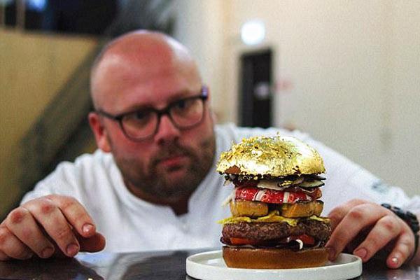 史上最贵汉堡!荷厨师做出价值1.6万元汉堡破纪录