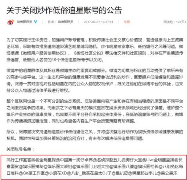 卓伟等一批娱乐八卦账号被封 微博会变脸吗?