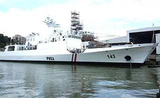 船厂军舰海警船扎堆 外贸舰刷号