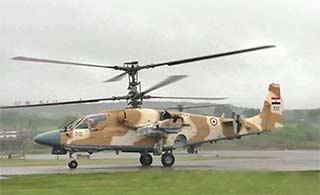 俄为埃及制造卡52直升机真容亮相