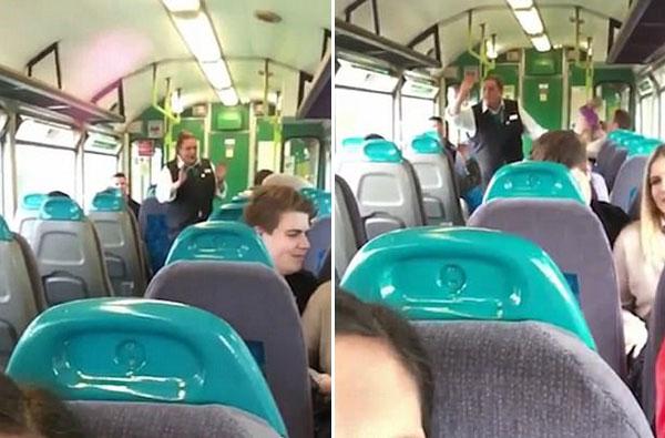 旅途不寂寞!英列车乘务员热情高歌娱乐旅客
