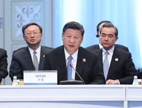 习近平出席上合峰会并发表重要讲话