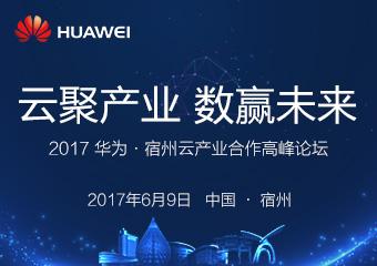 2017华为·宿州 云产业合作高峰论坛