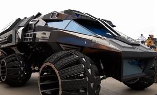 美国展示新型火星探测车 不是一般的科幻