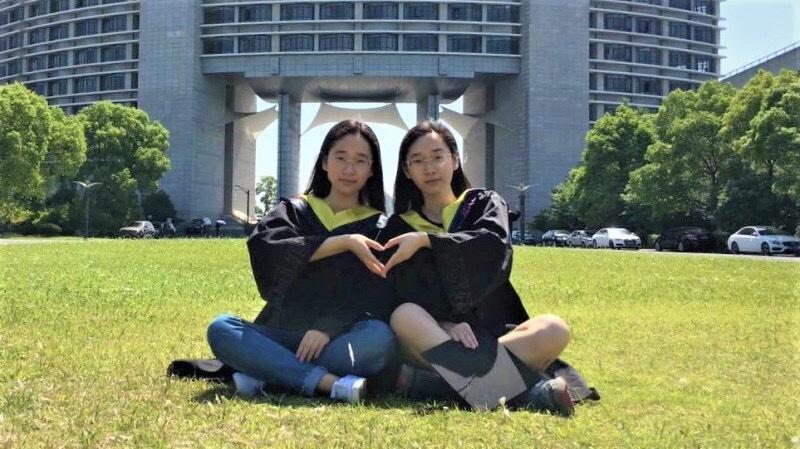 学霸双胞胎姐妹一路同校 同保研名校
