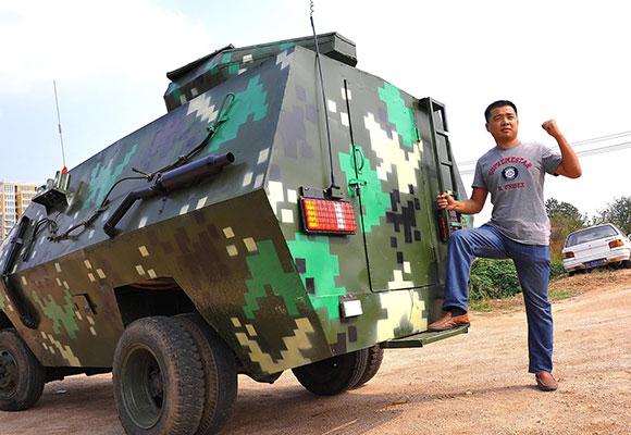 退伍兵耗资3万造装甲车 出租两年挣近万元