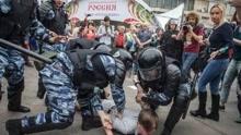 俄罗斯反贪腐示威遭警方拘留