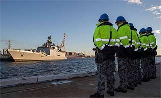 印度海军编队抵澳参加联合军演