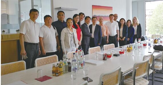 黑龙江省商务厅代表团访问德国汉堡