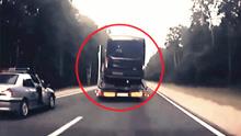 实拍:俄警察开枪围捕疯狂酒驾卡车司机