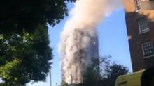 伦敦公寓大楼火灾已致30人受伤