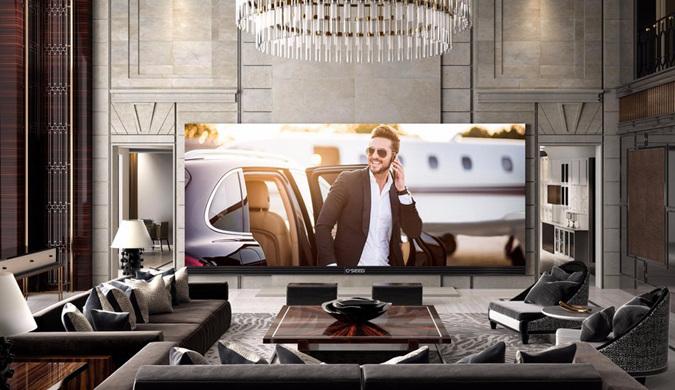美国制造出世界上最大电视机 价值53.9万美元